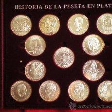Trofeos y medallas: 13 MONEDAS HISTORIA DE LA PESETA EN PLATA. Lote 31782899