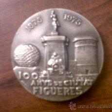 Trofeos y medallas: MEDALLA AJUNTAMENT DE FIGUERES-I CENTENARI 1875-1975-100 ANYS DE CIUTAT-5 CMTS DIAMETRO. Lote 32020099