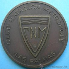 Trofeos y medallas: MEDALLA CLUB NATACIÓN METROPOLE. LAS PALMAS. Lote 32272728