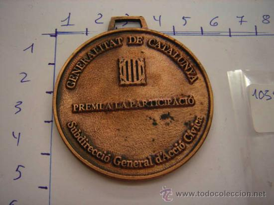 Trofeos y medallas: Medalla de bronce Generalitat de Catalunya premi a la participació. - Foto 2 - 32457351