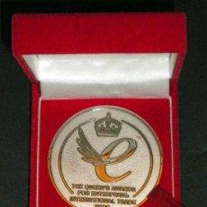Trofeos y medallas: MEDALLA MONEDA THE QUEEN´S AWARDS FOR ENTERPRISE INTERNACIONAL TRADE 2006 DSG INTERNACIONAL PLC. Lote 32727164