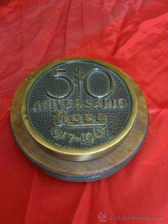 PISAPAPELES DEL 50 ANIVERSARIO DE LA COMPAÑIA ROCA, BARCELONA. 1917-1967 (Numismática - Medallería - Trofeos y Conmemorativas)