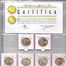 Trofeos y medallas: 10 MEDALLAS DE METAL CON BAÑO ORO 22 QUILATES - DE LAS OLIMPIADAS 1964-2000. Lote 34287907