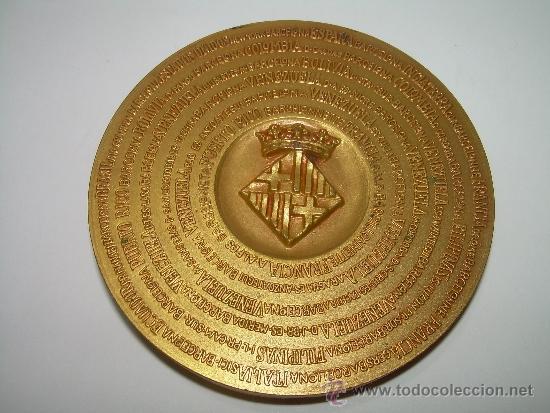 Trofeos y medallas: MEDALLA COLONIA FAVENTIA IVLIA AVGVSTA PATERNA BARCINO. - Foto 3 - 56193924