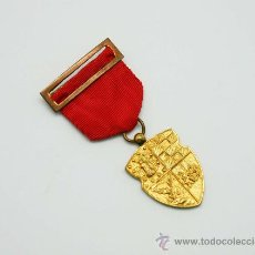 Trofeos y medallas: MEDALLA BRONCE DORADO COLEGIO JESUITA NUESTRA SEÑORA DEL RECUERDO CHAMARTIN AÑOS 60. Lote 34624769