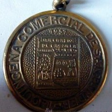 Trofeos y medallas: MEDALLA CONMEMORATIVA III EXPOSICIÓN FILATÉLICA SANTANDER. 1957.. Lote 35453356