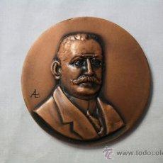 Trofeos y medallas: MEDALLA EN MEMORIA DE ENRIC PRAT DE LA RIBA 1870-1917 - ACUÑADA 1967 50 ANIVERSARIO DE SU MUERTE. Lote 35652516