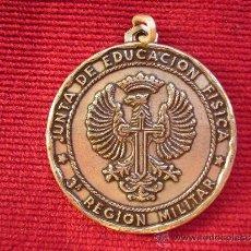 Trofeos y medallas: MEDALLA DE LA JUNTA DE EDUCACION FISICA 3ª REGION MILITAR-VOLEIVOL OFICIALES 1972.DIAMETRO 5,5 CM.. Lote 35892199