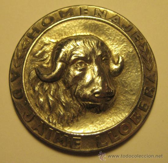 MEDALLA HOMENAJE AD JAIME LLOBERA. PLATA. DIÁMETRO 4 CM. PESO: 15 GR (Numismática - Medallería - Trofeos y Conmemorativas)
