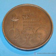 Trofeos y medallas: MEDALLA DEL XVII PLENO DEL CONSEJO NACIONAL DE EDUCACIÓN FÍSICA Y DEPORTES. AÑO 1968. . Lote 35970947