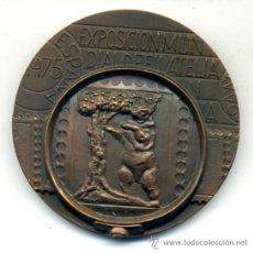 Trofeos y medallas: GRAN MEDALLON EXPOSICION MUNDIAL DE FILATELIA 1975 EN BRONCE . Lote 36175327