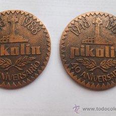 Trophies and Medals - 2 Medalla en bronce. 40 aniversario PIKOLIN 1948-1988 - 36231659