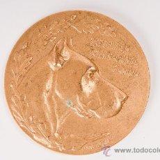 Trofeos y medallas: MEDALLA DE METAL -EXPOSICION INTERNACIONAL CANINA- 1921. Lote 36298123
