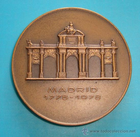 Trofeos y medallas: MEDALLA BANCO EXTERIOR DE ESPAÑA, BICENTENARIO DE LA PUERTA DE ALCALA años 1778 - 1978 - Foto 2 - 36615149