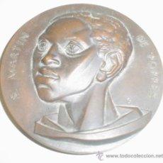 Trofeos y medallas: MEDALLA BRONCE DE SAN MARTIN DE PORRES. PALENCIA. Lote 37138191