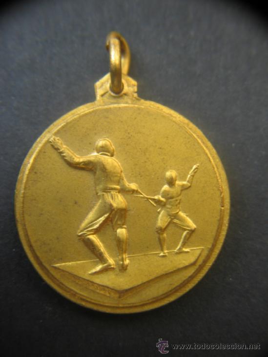 MEDALLA ESGRIMA . ITALIA. 1957. (Numismática - Medallería - Trofeos y Conmemorativas)