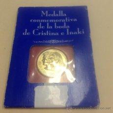 Trofeos y medallas: MEDALLA CONMEMORATIVAS - BODA INFANTA CRISTINA E IÑAKI URDANGARIN. Lote 37451719