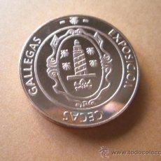 Trofeos y medallas: MONEDA-EXPOSICIÓN CECAS GALLEGAS-V CENTENARIO Mª PITA-1589/1989-30 MM.D-NUEVA.. Lote 37922957