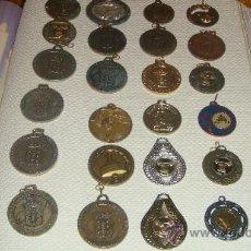 Trofeos y medallas: LOTE DE 39 MEDALLAS DE DIVERSOS DEPORTES DISTINTAS EPOCAS. Lote 38908869