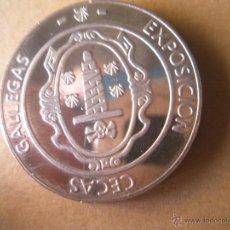 Trofeos y medallas: MONEDA DE ESPAÑA-CECAS GALLEGAS-V CENTENARIO-MªPITA-32 MM.D-1989-VER FOTOS. Lote 39564188