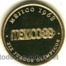 Mejico Mexico 1968 Medalla Conmemorativa Juego Comprar Trofeos Y