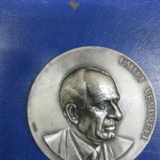 Trofeos y medallas: MEDALLA EMILI VENDRELL. HOMENATGE AL CANTAIRE DE CATALUNYA. BARCELONA 1976.. Lote 39720472