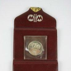 Trofeos y medallas: M-050. MONEDA DE LAS OLIMPIADAS DE MUNICH DE 1972 EN METAL PLATEADO CON ESTUCHE. 1972. . Lote 39918851