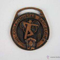 Trofeos y medallas: M-094. MEDALLA EN METAL HH. CORAZONISTAS BARCELONA. COLEGIO SAGRADO CORAZON 2º TROFEO 24-5-80. . Lote 39952593
