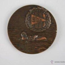 Trofeos y medallas: M-109. MEDALLA EN BRONCE. I CAMPEONATO DE SALVAMENTO Y SOCORRISMO ESCOLAR. 1971-72.. Lote 39969444