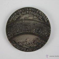 Trofeos y medallas: M-120. MEDALLA EN METAL PLATEADO. SALON INTERNACIONAL DEL AUTOMOVIL BARCELONA 75. . Lote 39970107
