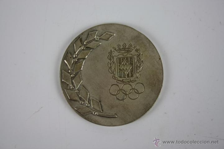 M-123. MEDALLA ENMETAL PLATEADO. II SEMANA PROMOCION DEPORTIVA. (Numismática - Medallería - Trofeos y Conmemorativas)