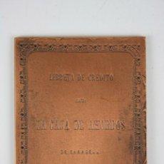 Trofeos y medallas: M-125. MEDALLA EN BRONCE. LIBRETA DE CREDITO DE LA CAJA DE AHORROS DE SABADELL. . Lote 39970499