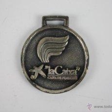 Trofeos y medallas: M-134. MEDALLA EN METAL PLATEADO. LA CAIXA. CONSELL DE L'ESPORT ESCOLAR DE BARCELONA 1977-1987.. Lote 39971155