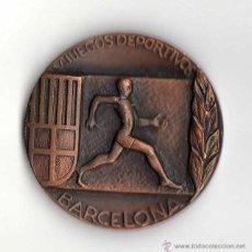 Trofeos y medallas: MEDALLA V JUEGOS DEPORTIVOS BARCELONA 1965 . Lote 40001082
