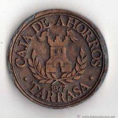 Trofeos y medallas: MEDALLA CENTENARIO CAJA DE AHORROS TARRASSA 1977 .. Lote 184893707