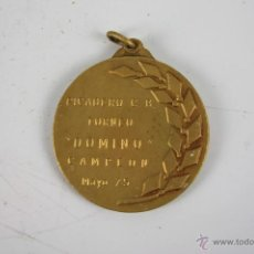 Trofeos y medallas: M-172. MEDALLA EN METAL DORADO. PICADERO C.B. TORNEO DOMINO CAMPEON MAYO 75. . Lote 40029235
