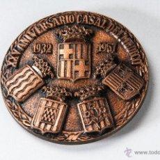 Trofeos y medallas: MEDALLA METAL, FIESTAS CONMEMORATIVAS AÑO 1958, XXV ANIVERSARIO CASAL DEL MEDICO. Lote 40550448