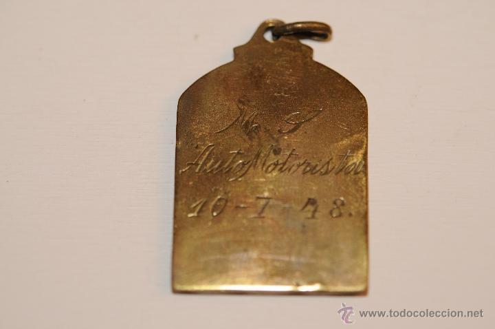 Trofeos y medallas: MEDALLA EN BRONCE DE FUTBOL EN EL REVERSO AUTOS MOTORISTA 1948 - Foto 2 - 40727016