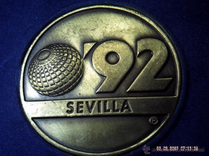 MEDALLA EXPO 92. SEVILLA. PARTE POSTERIOR EDIFICIO DE LA CARTUJA. EBC. ESTUCHE OFICIAL. (Numismática - Medallería - Trofeos y Conmemorativas)