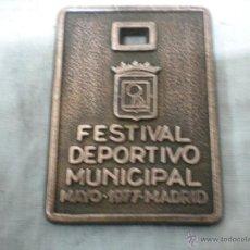 Trofeos y medallas: MEDALLA FESTIVAL DEPORTIVO MUNICIPAL-MADRID-MAYO 1977. Lote 41574380