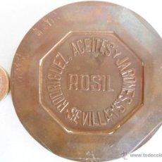 Trofeos y medallas: MEDALLA PISAPAPELES 50 ANIVERSARIO FABRICA JABONES ROSIL SEVILLA. Lote 41594829