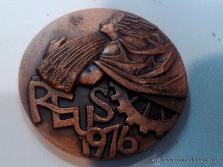 MEDALLA CONMEMORATIVA X FERIA MUESTRAS EXPRO REUS 1976 ESCULTOR RAMON FERRAN (Numismática - Medallería - Trofeos y Conmemorativas)
