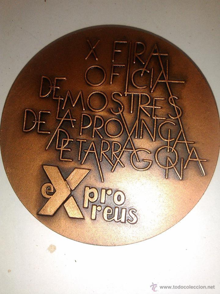 Trofeos y medallas: MEDALLA CONMEMORATIVA X FERIA MUESTRAS EXPRO REUS 1976 ESCULTOR RAMON FERRAN - Foto 2 - 42274799