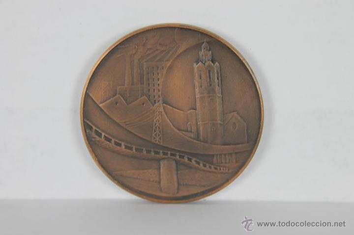 M-261. MEDALLA EN BRONCE DE SAN ADRES DE LA BARCA. S/F. (Numismática - Medallería - Trofeos y Conmemorativas)