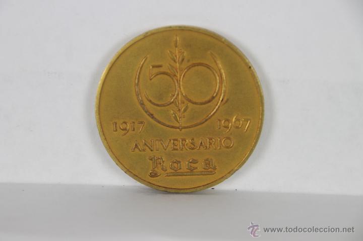 M-265. MEDALLA EN BRONCE. 50 ANIVERSARIO ROCA. 1917- 1967. (Numismática - Medallería - Trofeos y Conmemorativas)