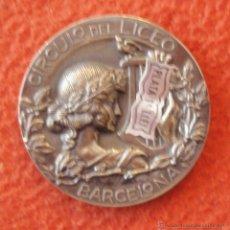 Trofeos y medallas: MEDALLA CIRCULO DEL LICEO 125 ANIVERSARIO 1847-1972 BARCELONA EN PLATA DE LEY 50 MM. Lote 42750873