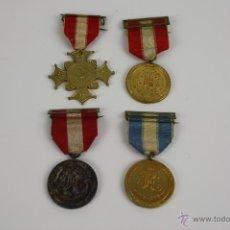 Trofeos y medallas: COLECCION DE 4 MEDALLAS EN METAL DE LOS MARISTAS 1931. . Lote 42845320
