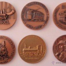 Trofeos y medallas: 6 MEDALLAS DIFERENTES DE TRENES Y TRANVÍAS DE BARCELONA EN COBRE 50 MM. Lote 42982831