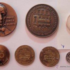Trofeos y medallas: 7 MEDALLAS DIFERENTES DE TRENES Y TRANVÍAS DE BARCELONA. Lote 42983065