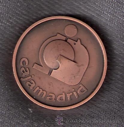 CAJA DE AHORROS Y MONTE DE PIEDAD DE MADRID. BARCELONA 1702 -1982. CAJAMADRID. MEDALLA. (Numismática - Medallería - Trofeos y Conmemorativas)